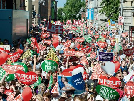 Thousands attended the pro-life rally in Dublin on Saturday