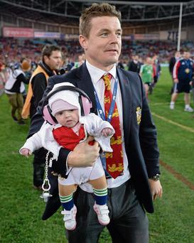 Brian O'Driscoll, pictured with daughter Sadie following the Lions' victory in Sydney