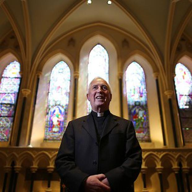 Dean of St Patrick's Cathedral Victor Stacey as the Lady Chapel was opened to the public