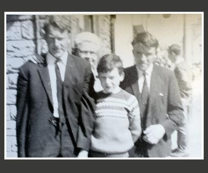 A photo taken in 1972 of Tom (left) and Jack Blaine (right) with their aunt Mary Kearns and their cousin Paul Dunne