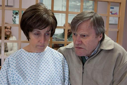 Coronation Street's Roy Cropper, played by David Neilson, with Hayley Cropper, played by Julie Hesmondhalgh, whose character faces up to the devastating news that she only has months to live