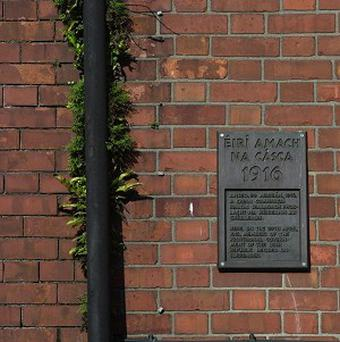 A plaque on No 16 Moore Street in Dublin marking the spot where Irish Republicans leaders were cornered in the 1916 Easter Rising