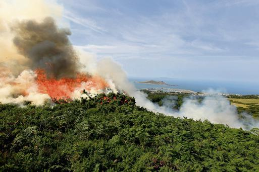 The gorse fire on Howth Hill
