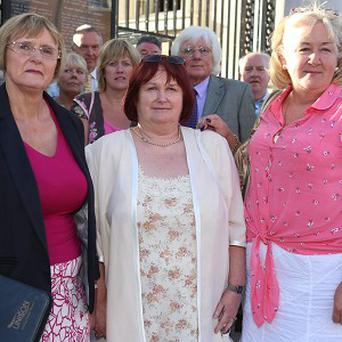 Margaret Urwin, Monica Duffy Campbell and Bernie McNally from Justice for the Forgotten after their meeting with Enda Kenny in Dublin