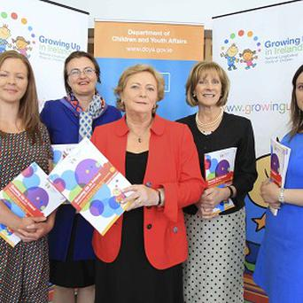 Children's Minister Frances Fitzgerald has launched the latest report from the Growing Up in Ireland study (Lensmen Photographic Agency/PA)