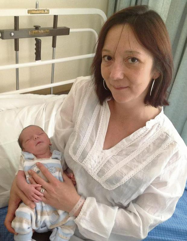Siobhan Lawlor and baby Kielan Martin from Arranmore Island, Donegal