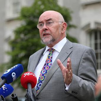 Ruairi Quinn said the government is 'disappointed that the congregations have not agreed to a 50:50 share of the very considerable cost for redress'