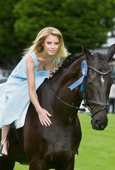 Sports presenter and Irish Independent columnist Rachel Wyse who was unveiled as judge for Blossom Hill Ladies' Day at the Dublin Horse Show