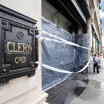 Cleary's department store on O'Connell Street Upper, Dublin, remains closed after a section of the roof fell through during heavy rain