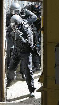Stock photo: A member of the ERU during a counter-terrorism exercise