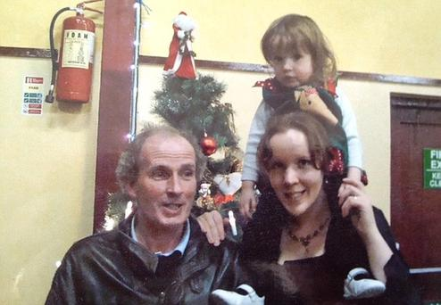 Martin McCarthy and wife Rebecca and baby Clarissa
