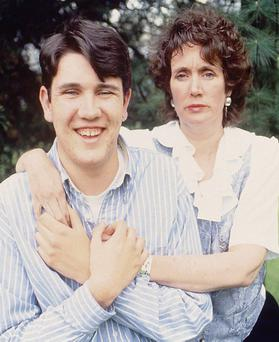 Annie Murphy with her son Peter in 1996