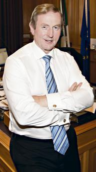 Taoiseach Enda Kenny in his office