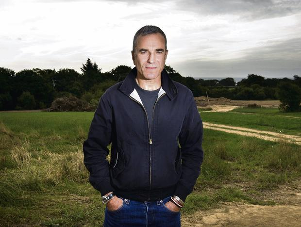 Daniel Day-Lewis at the site of the proposed hospice