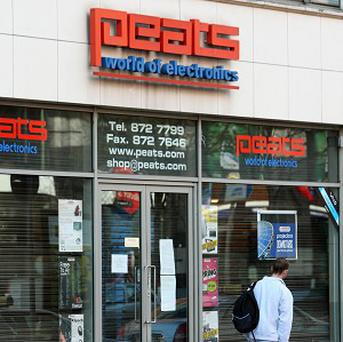 The Parnell Street branch of Dublin firm Peats World of Electronics, which has recently gone into liquidation.