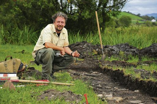 Mick Drumm of Wolfhound Archaeology at the dig at Drumholm, Co Donegal