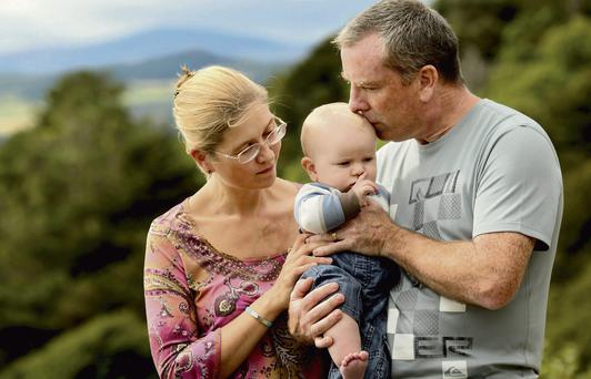 HEARTBROKEN: Brian and Maria O'Shea with their surviving son Torben.