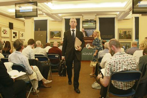 Solicitor Cahir O'Higgins at the auction