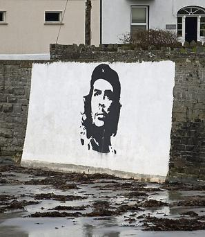 The Che Guevera mural on Alley Wall in Kilkee, Co Clare