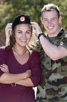 Cpl Shane Williams, from Harold's Cross, with girlfriend Moira Boland