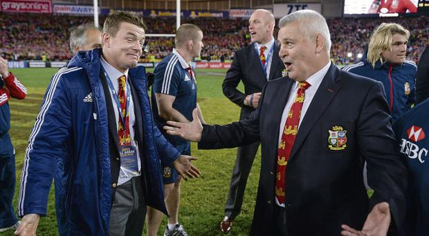 Brian O'Driscoll, left, and Warren Gatland