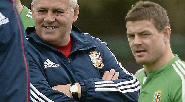 O'Driscoll and Gatland at training after the decision