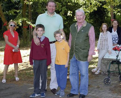 Objecting to Dun Laoghaire-Rathdown County Council plans for an adventure playground at Cabinteely Park are Claire Vaughan, Neil Francis, Daniel and George Francis, Michael O'Brien, Cara Toner and Cleo Ellis. Declan Masterson