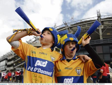 Clare supporters Sean Rynne and his brother Conor at Croke Park