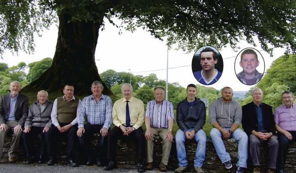 Mayo men called John McNicholas who have come together to celebrate the Gathering