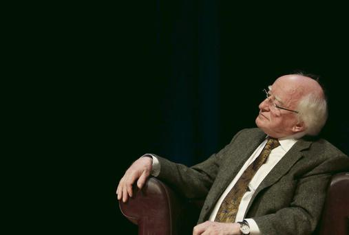 President Higgins at a conference on ethics and the economy at Dublin City University