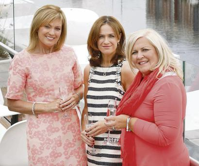 Ladies who lunch: RTE's Mary Kennedy, Dr Rhona Mahony and To Russia With Love founder Debbie Deegan at the launch of the 'Inspiring Women' lunch