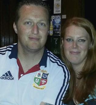 Proud parents: Kevin Twomey and Louise Curry