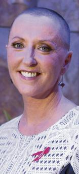 Majella O'Donnell after she bravely had her hair shaved on live TV in a charity drive for the Irish Cancer Society. The Late Late Show item last Friday unleashed a deluge of donations.