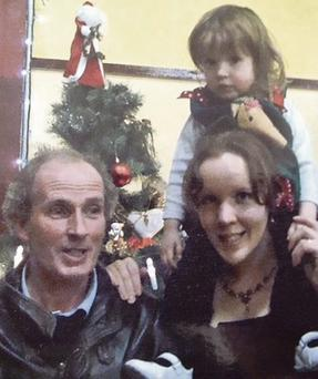 FAMILY TIMES: Rebecca McCarthy with daughter Clarissa, 3, and husband Martin, who later killed himself and the toddler.