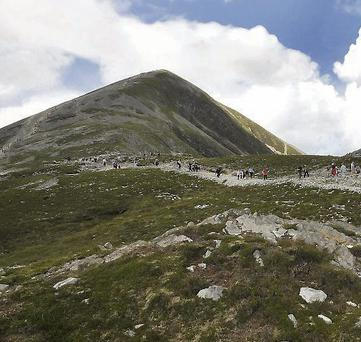 The annual Croagh Patrick pilgrimage cancelled due to adverse weather