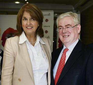 Joan Burton and Eamon Gilmore at the Labour think-in