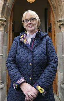 Rev Pat Storey after she was named Bishop of Meath and Kildare
