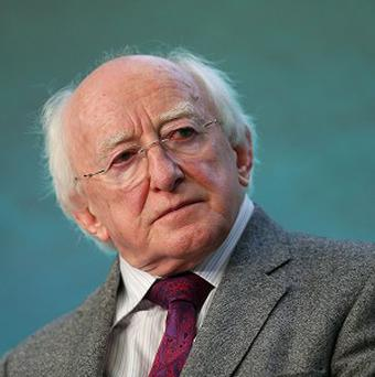 President Michael D Higgins defended a lecture he gave