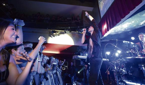TO ARTHUR: Danny O'Donoghue and The Script playing at Whelan's as part of the Arthur's Day celebrations in Dublin