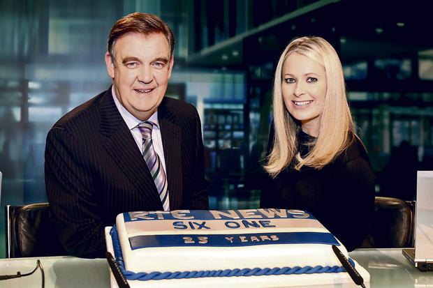 The current 'Six One' line-up of Bryan Dobson and Sharon Ni Bheolain