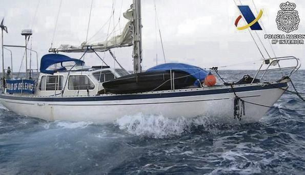 Kenny Coalter was arrested in Gran Canaria following the seizure of 500kg of cocaine, gold and firearms aboard the Maid of Orleans yacht, which belongs to another man
