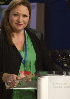 Norah Casey at The Gathering Conference at at the Global Irish Network Conference at Dublin Castle, yesterday.