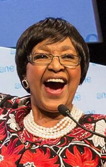 Winnie Mandela at the One Young World summit