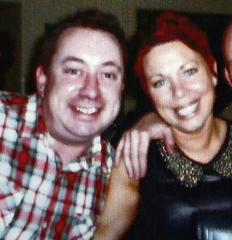 Former resident Fiachra Daly, who committed suicide, with his partner Stephanie Meehan