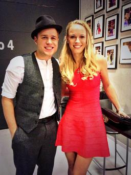 Caroline with Olly Murs