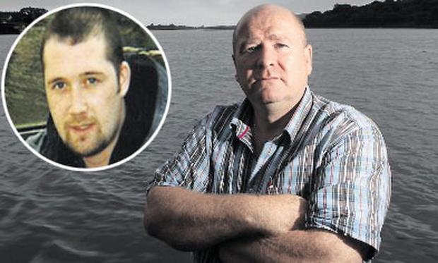 Former detective Sean Lynch has accepted an offer from Fianna Fail to run for a seat on Limerick City Council; Inset: Murder victim Shane Geoghegan