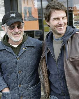 Director Steven Spielberg (left) helped inspire the 'Tom Cruise clause' in legislation that aims to bring Hollywood films here using tax reliefs