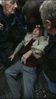 Patrick Touher, who collapsed after his impassioned speech