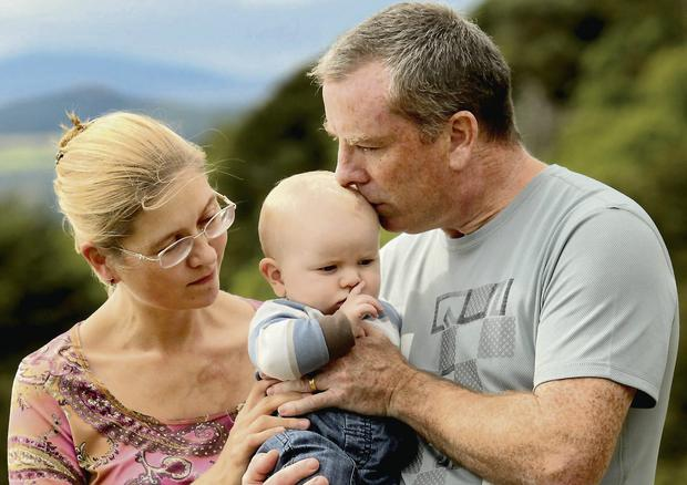 Maria and Brian O'Shea with surviving child Torben