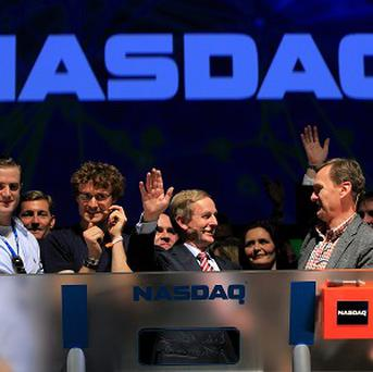 An Taoiseach Enda Kenny TD rang the opening bell to for the Nasdaq for the first time ever in Ireland, at the RDS, Dublin, where Websumit 2013 is taking place